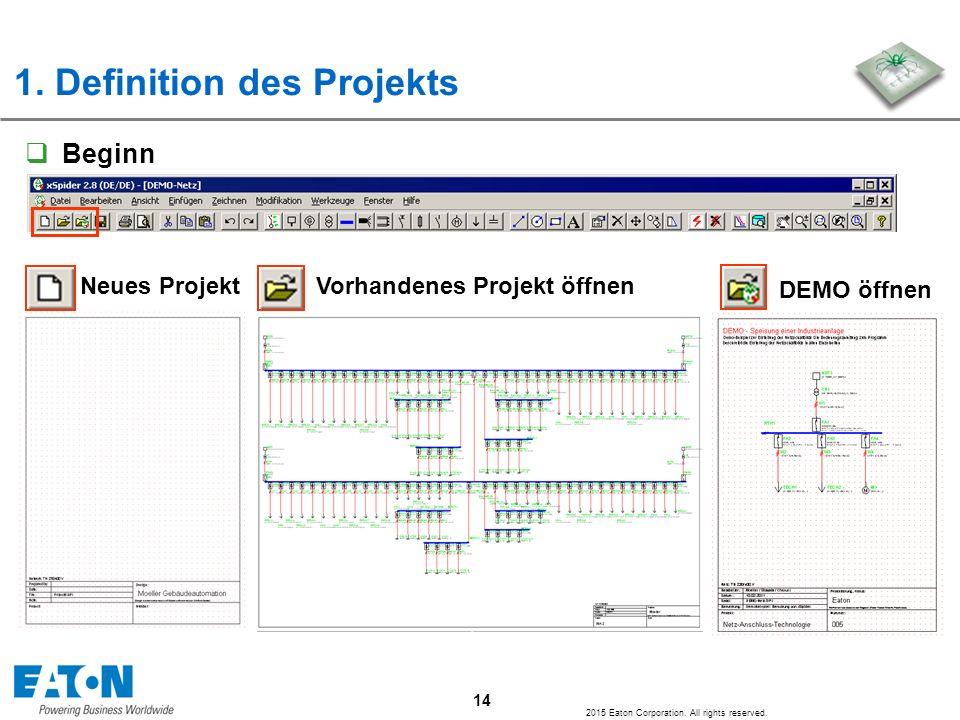 1. Definition des Projekts