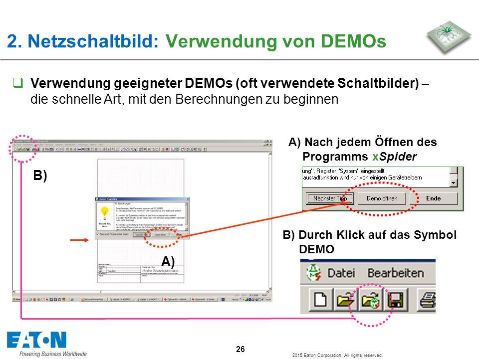 2. Netzschaltbild: Verwendung von DEMOs