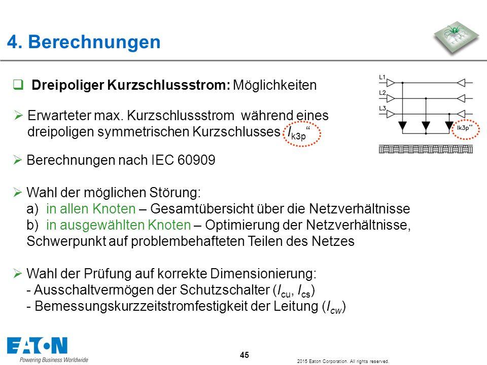 4. Berechnungen Dreipoliger Kurzschlussstrom: Möglichkeiten