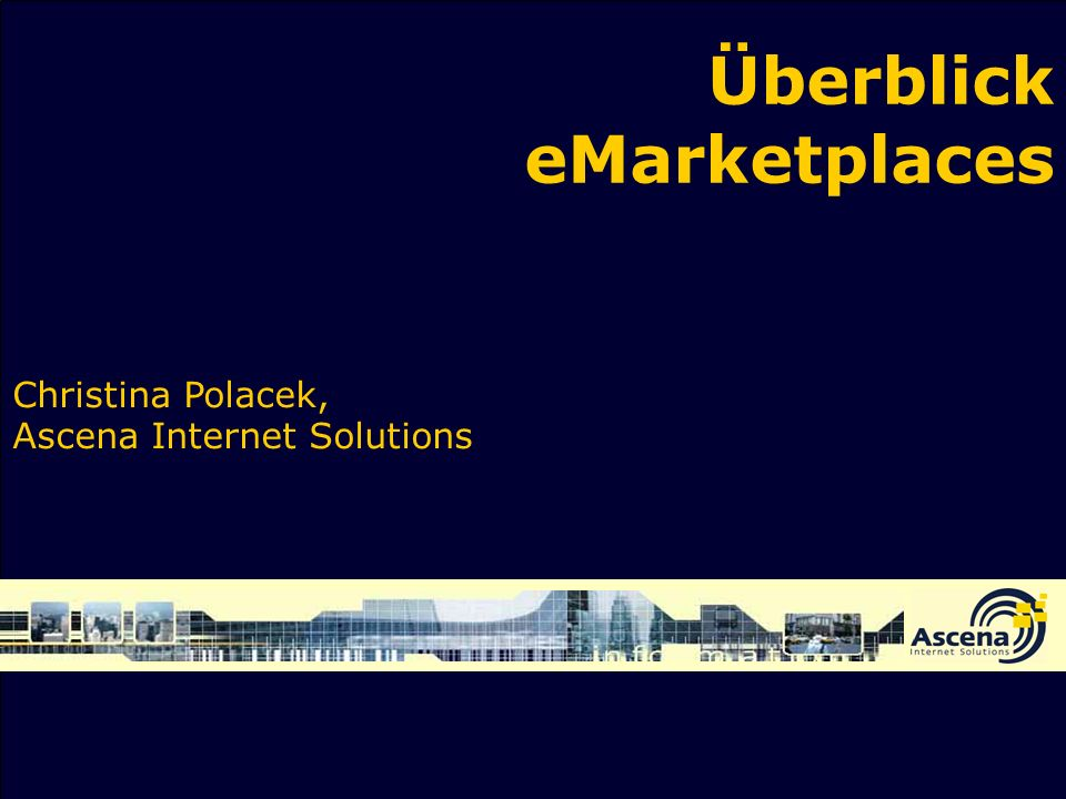Überblick eMarketplaces