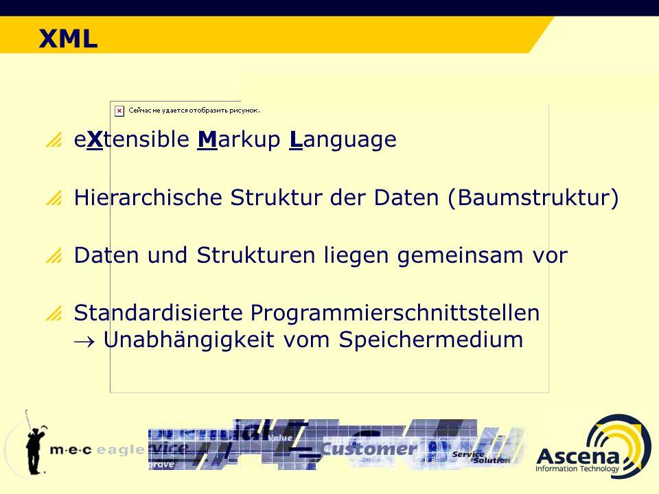 XML Der ideale Lösungsansatz eXtensible Markup Language