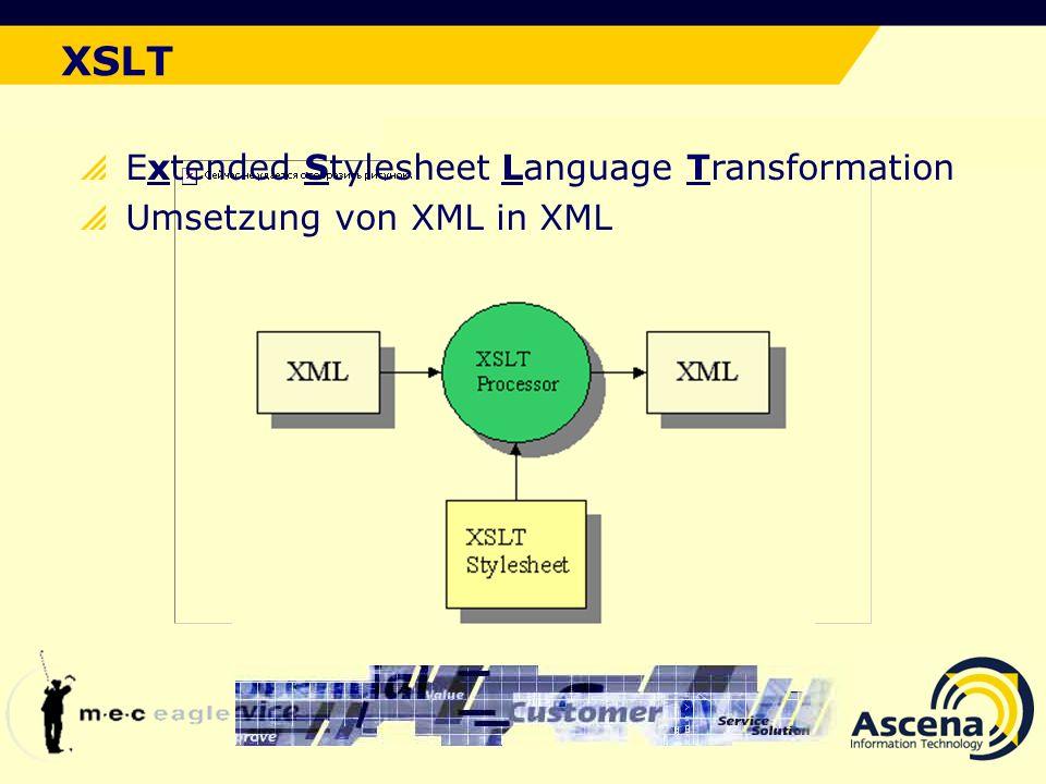 XSLT Der ideale Lösungsansatz