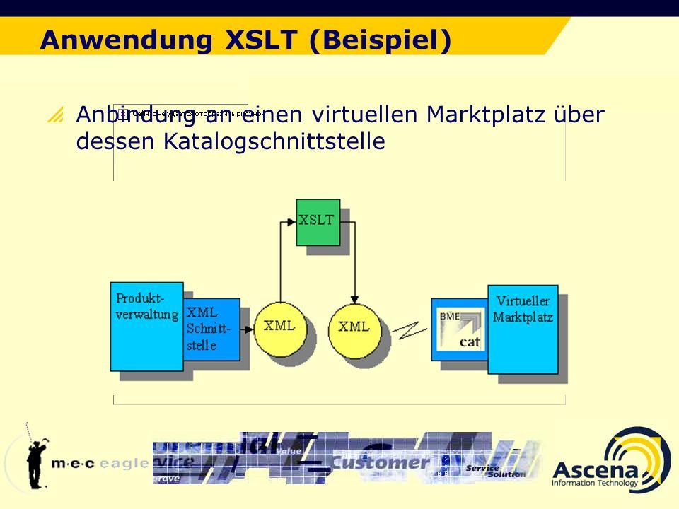 Anwendung XSLT (Beispiel)