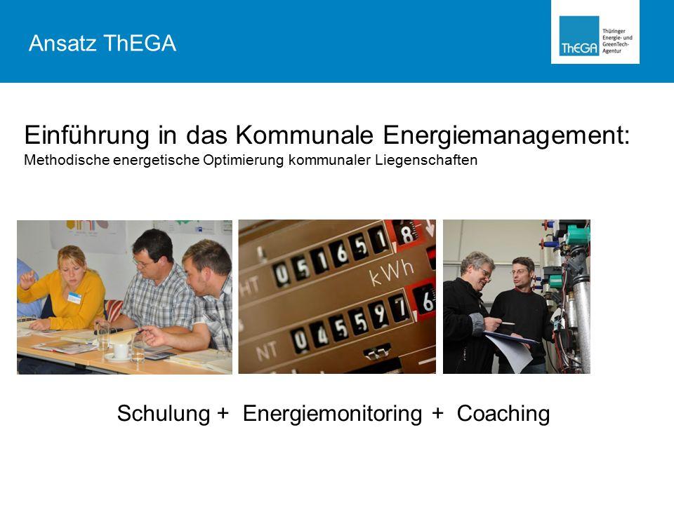 Ansatz ThEGA Einführung in das Kommunale Energiemanagement: Methodische energetische Optimierung kommunaler Liegenschaften.