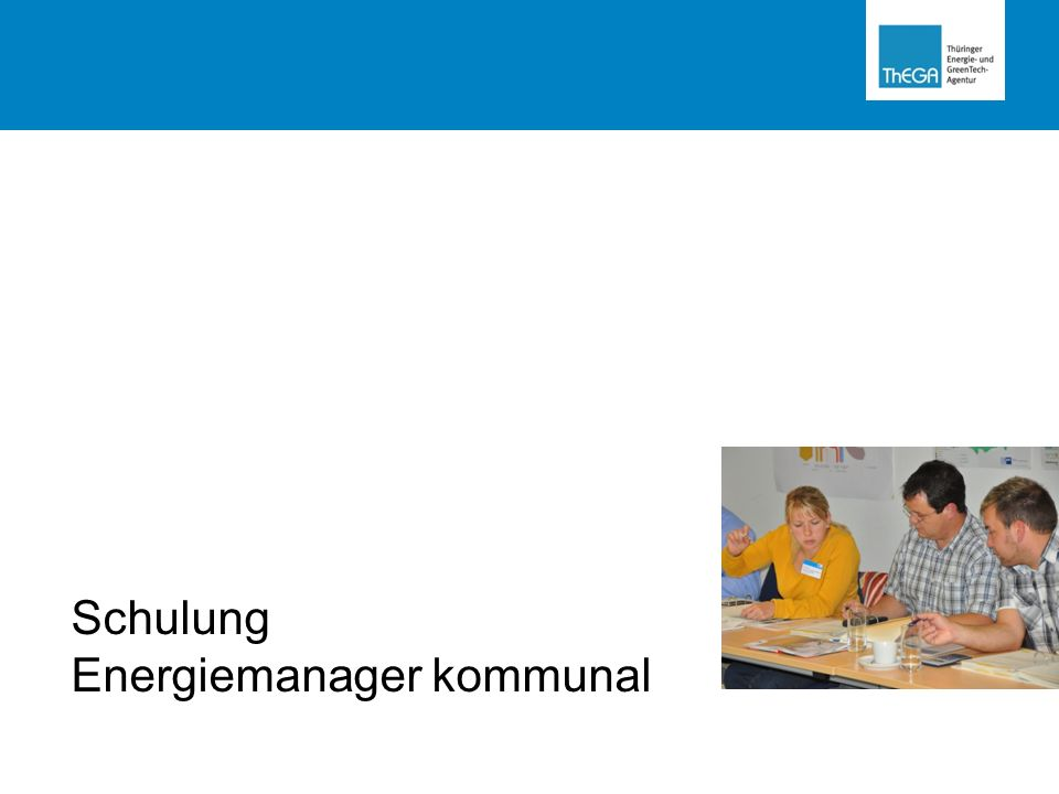 Schulung Energiemanager kommunal