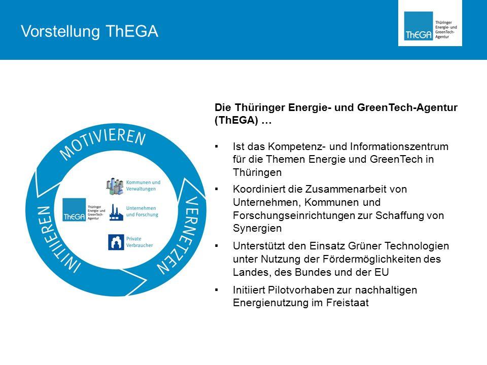 Vorstellung ThEGA Die Thüringer Energie- und GreenTech-Agentur (ThEGA) …
