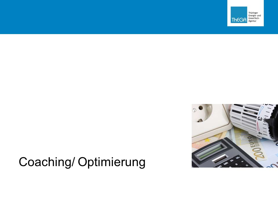 Coaching/ Optimierung