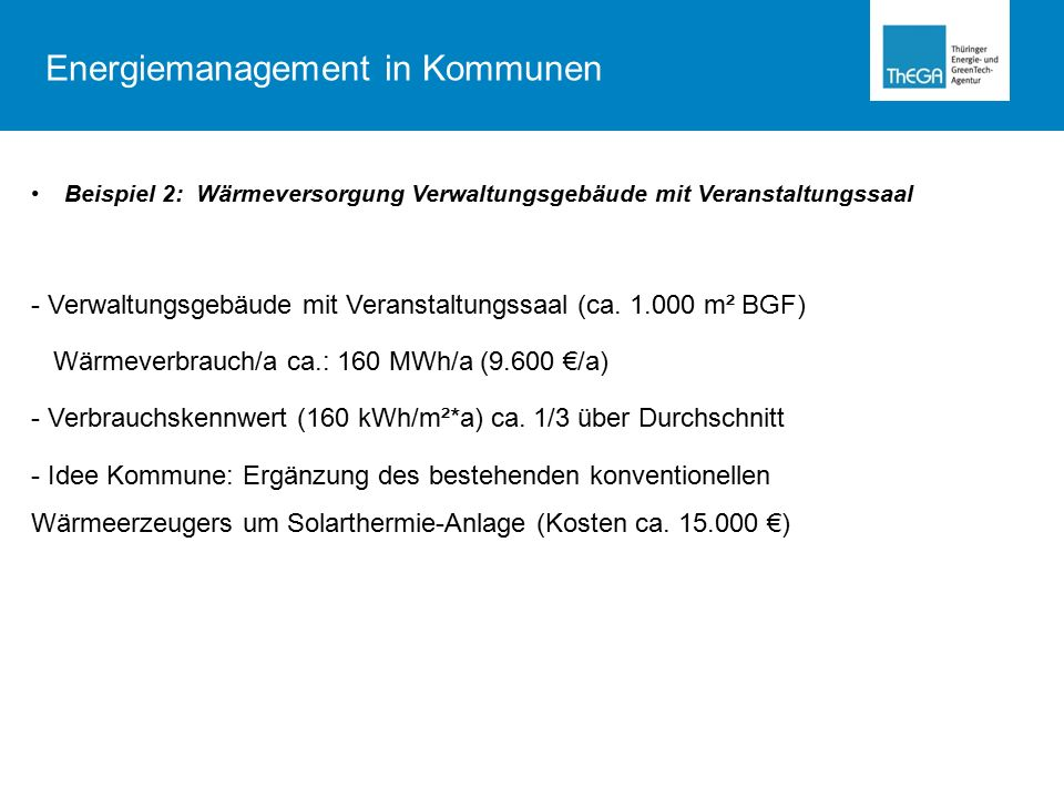 Energiemanagement in Kommunen