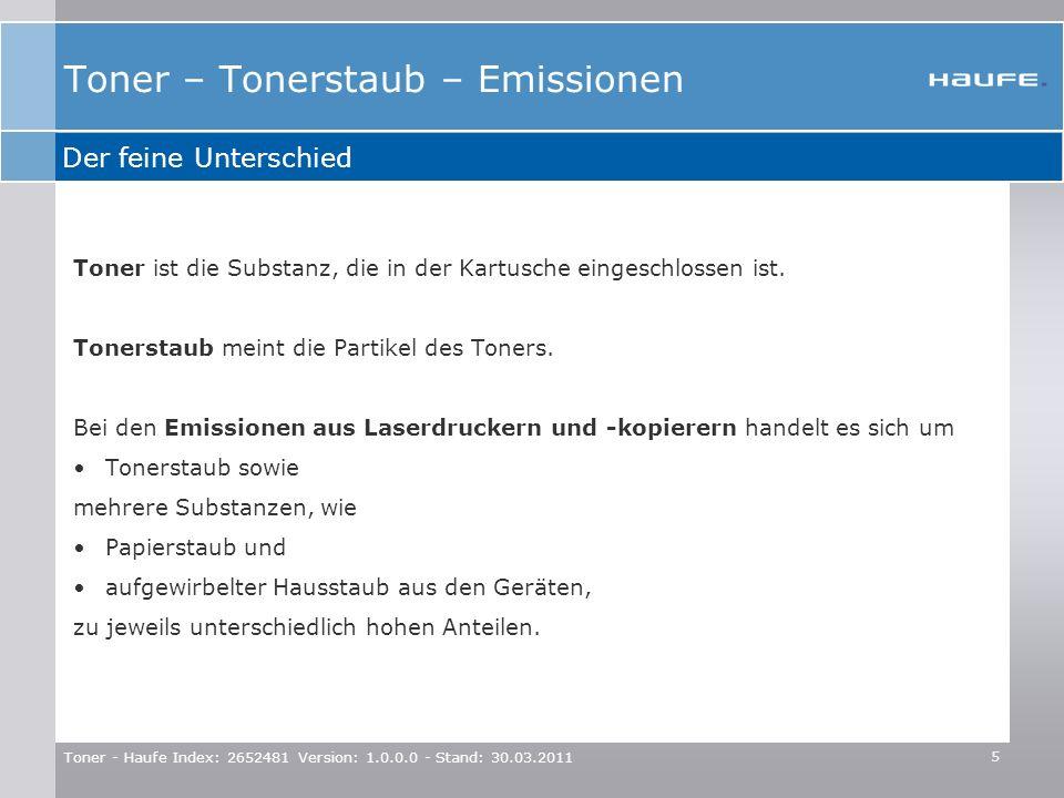 Toner – Tonerstaub – Emissionen
