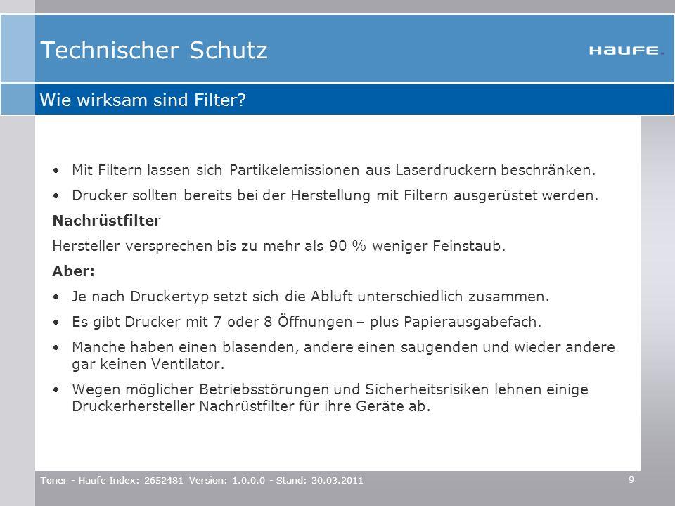 Technischer Schutz Wie wirksam sind Filter