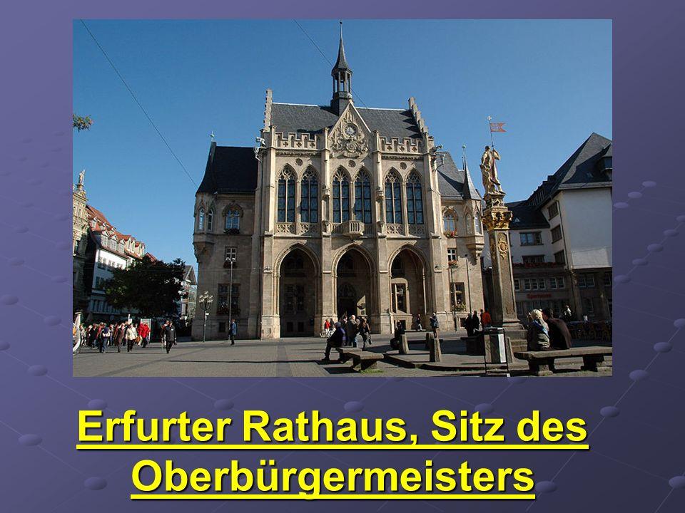 Erfurter Rathaus, Sitz des Oberbürgermeisters