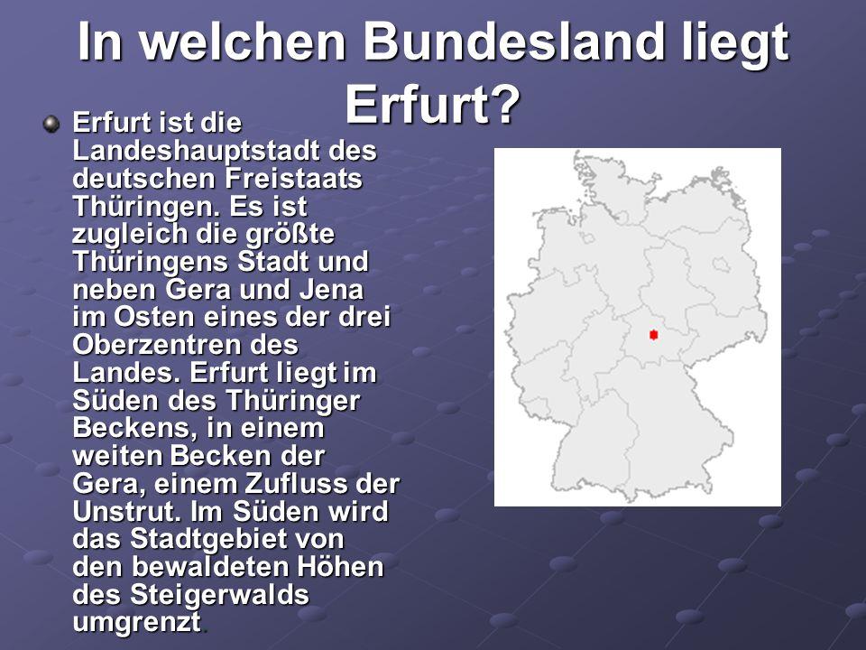 In welchen Bundesland liegt Erfurt