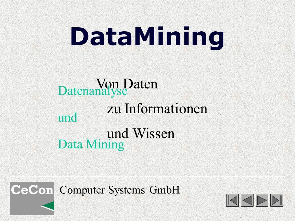 DataMining Von Daten zu Informationen und Wissen