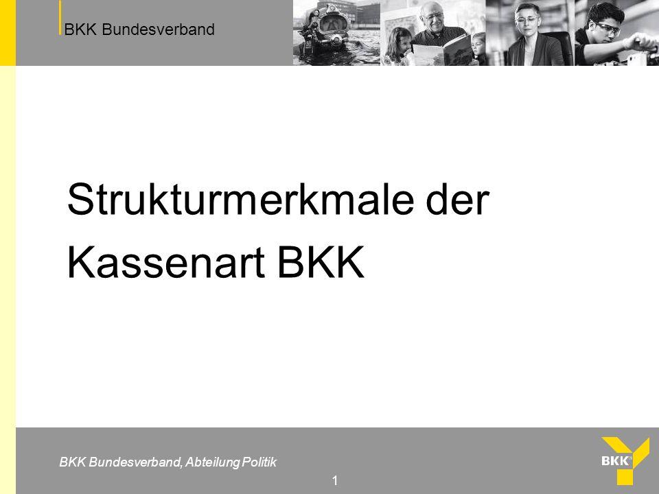 Strukturmerkmale der Kassenart BKK
