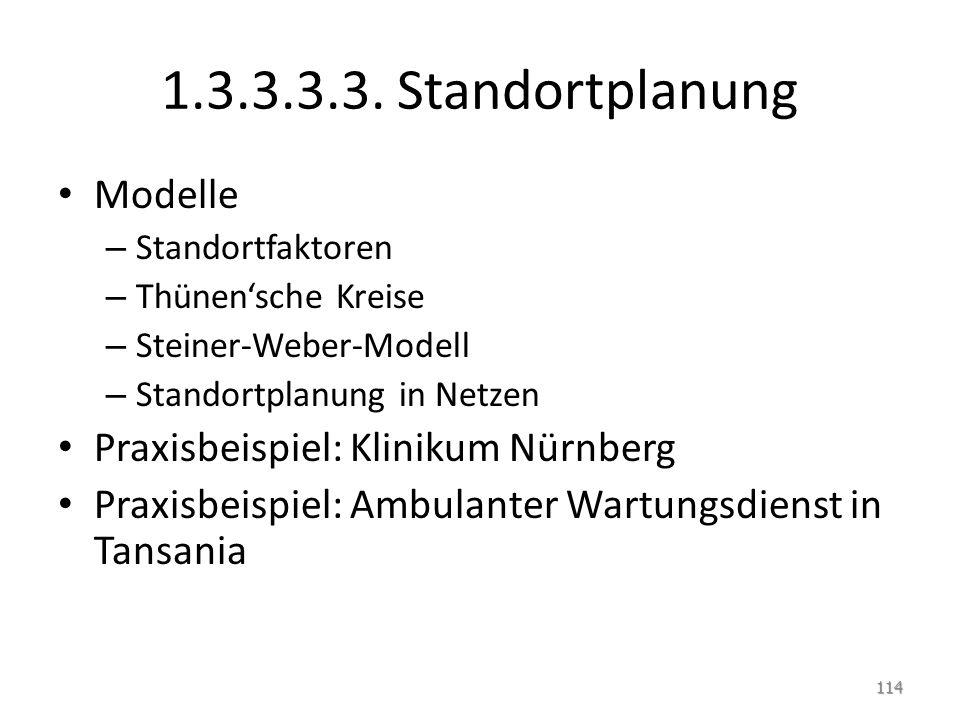 1.3.3.3.3. Standortplanung Modelle Praxisbeispiel: Klinikum Nürnberg