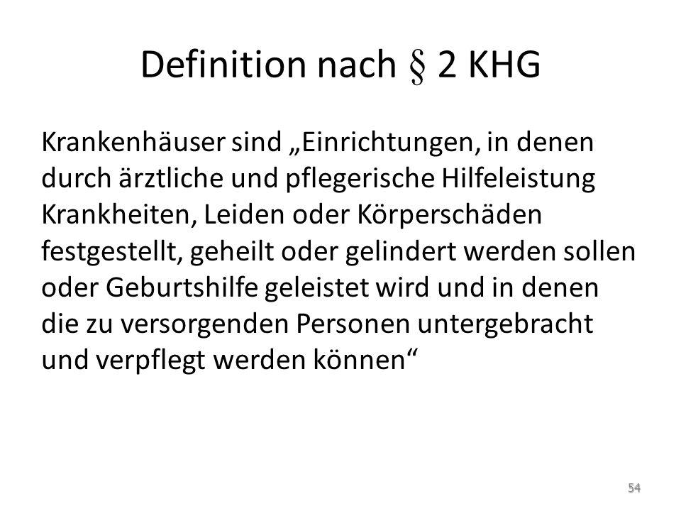 Definition nach § 2 KHG