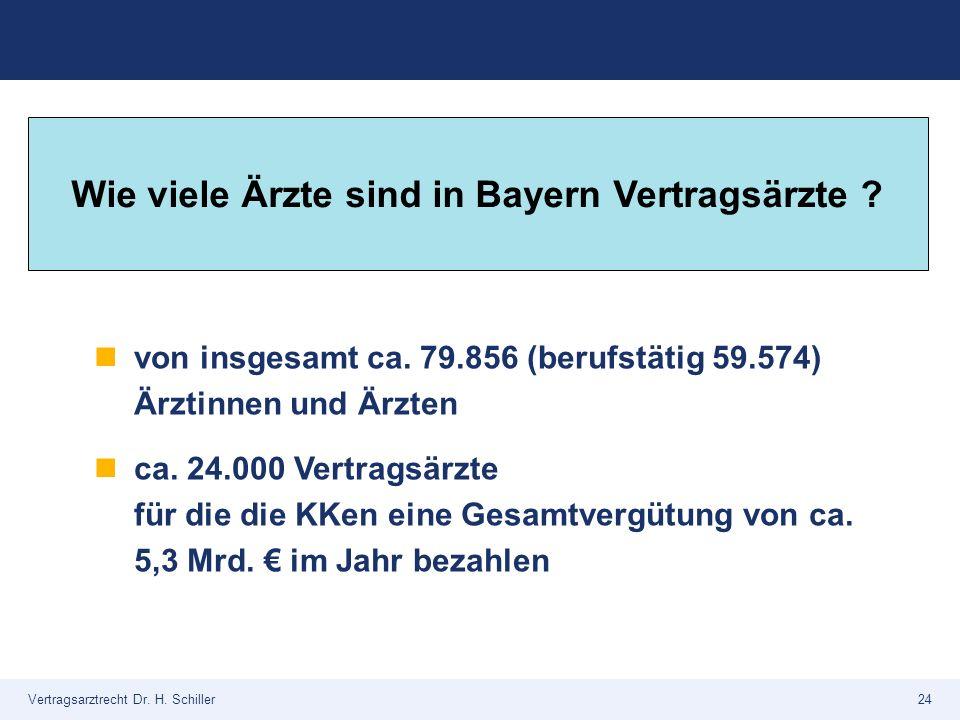 Wie viele Ärzte sind in Bayern Vertragsärzte
