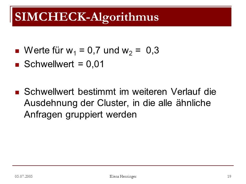 SIMCHECK-Algorithmus