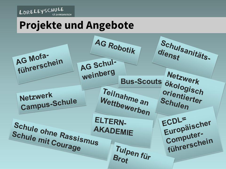 Projekte und Angebote AG Robotik Schulsanitäts- dienst