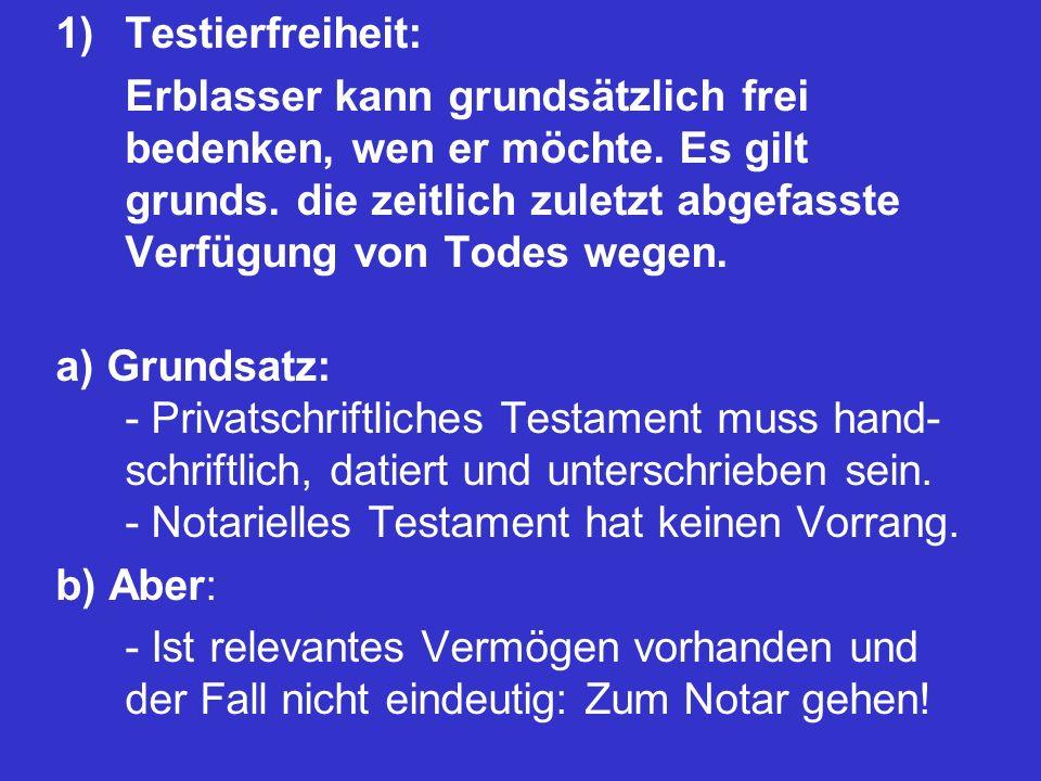 Testierfreiheit: