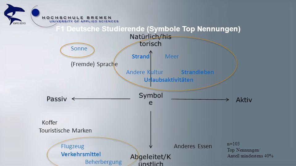 F1 Deutsche Studierende (Symbole Top Nennungen)