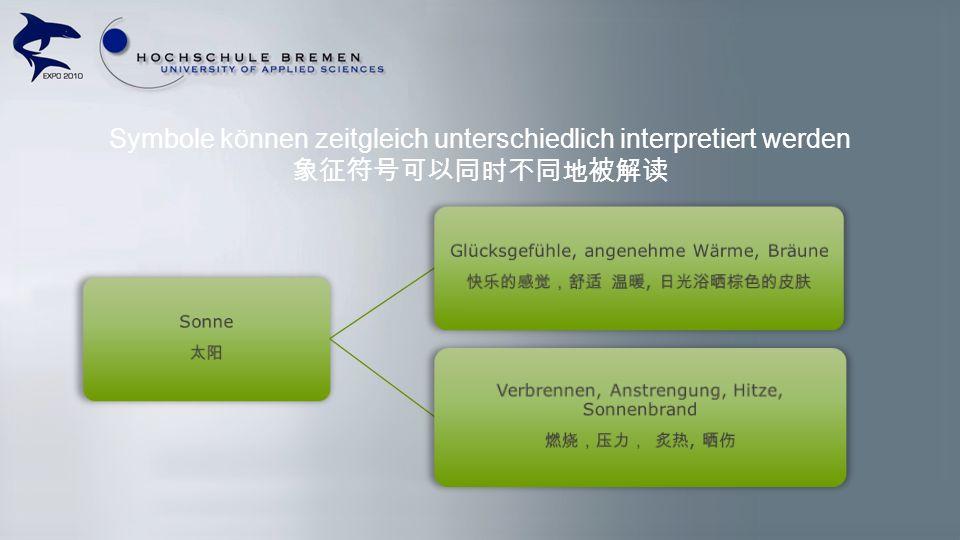 Symbole können zeitgleich unterschiedlich interpretiert werden 象征符号可以同时不同地被解读