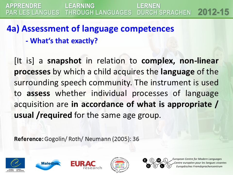 4a) Assessment of language competences - What's that exactly