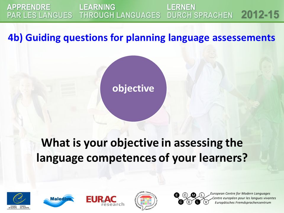 4b) Guiding questions for planning language assessements