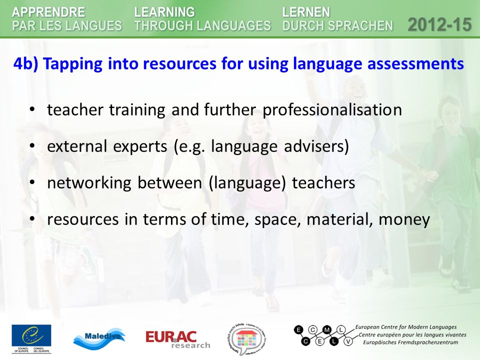 4b) Tapping into resources for using language assessments