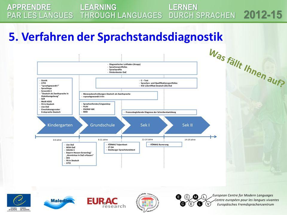 5. Verfahren der Sprachstandsdiagnostik