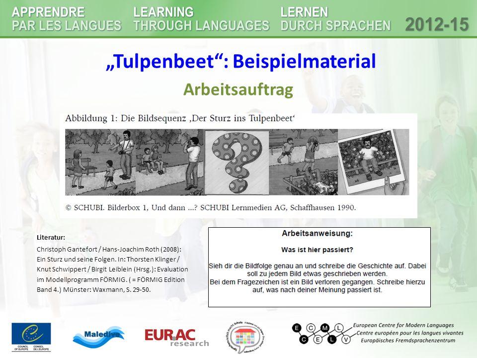 """Tulpenbeet : Beispielmaterial"