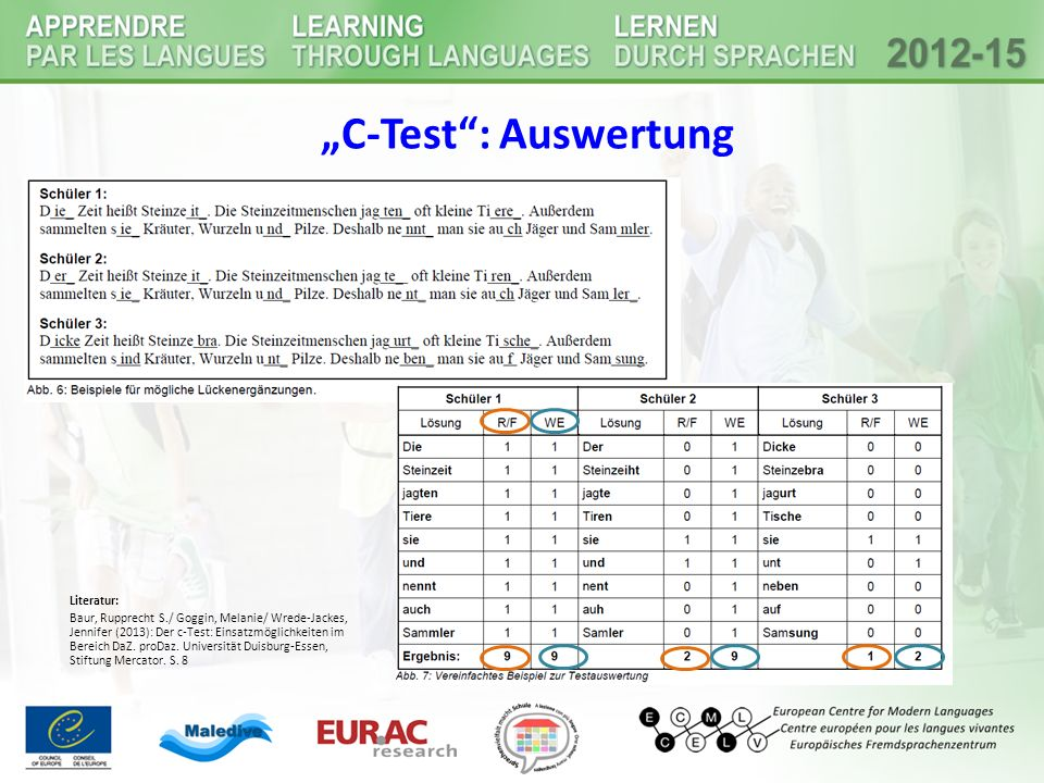 """C-Test : Auswertung Literatur:"