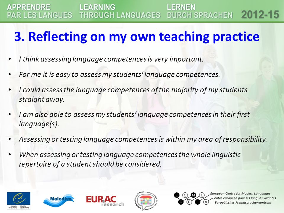 3. Reflecting on my own teaching practice