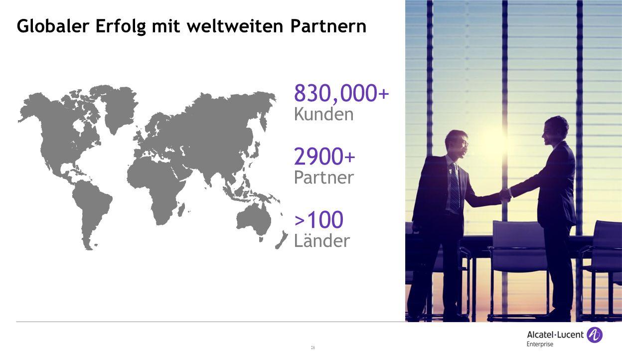 Globaler Erfolg mit weltweiten Partnern