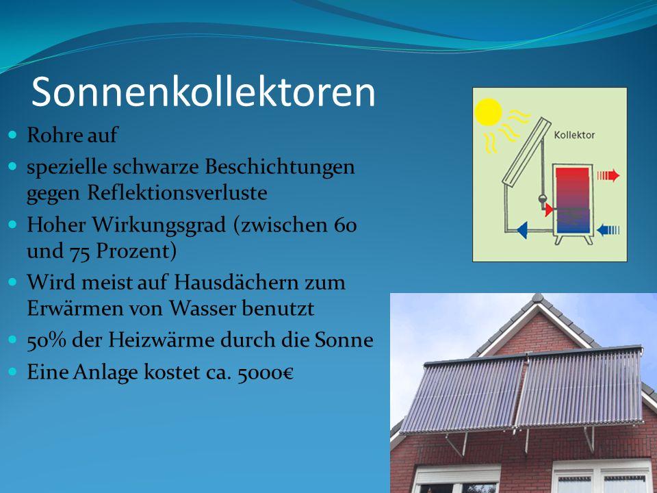 Sonnenkollektoren Rohre auf