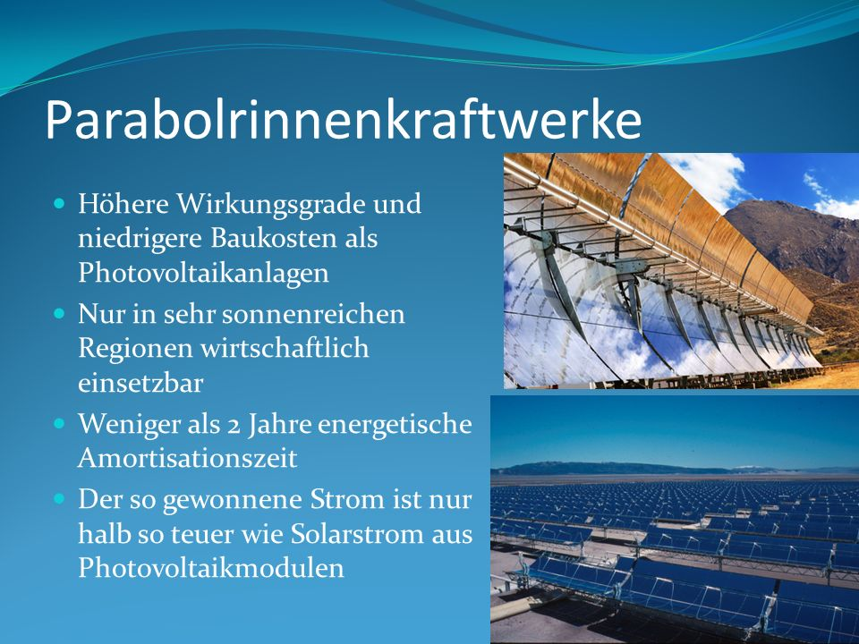 Parabolrinnenkraftwerke