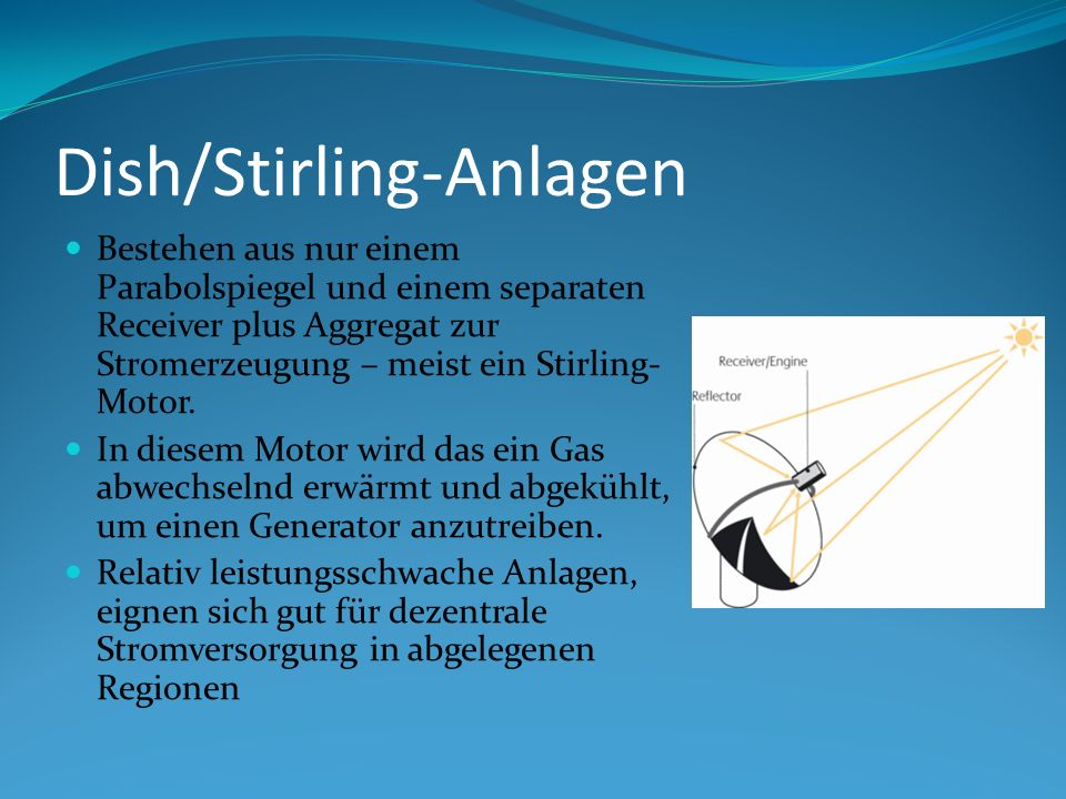 Dish/Stirling-Anlagen