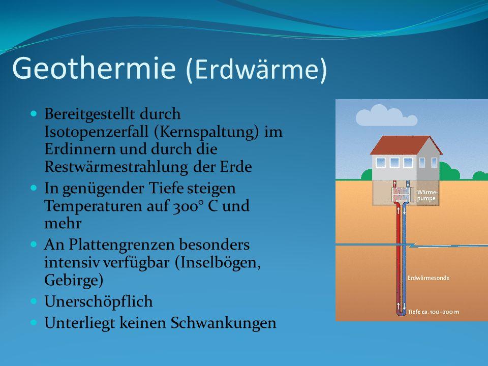 Geothermie (Erdwärme)