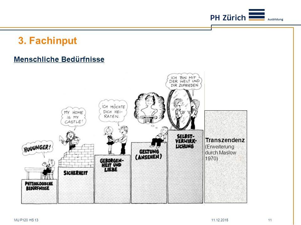 3. Fachinput Menschliche Bedürfnisse Transzendenz