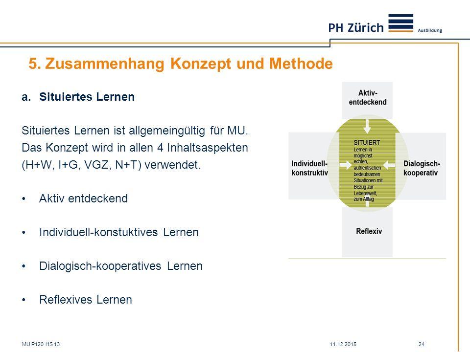 5. Zusammenhang Konzept und Methode