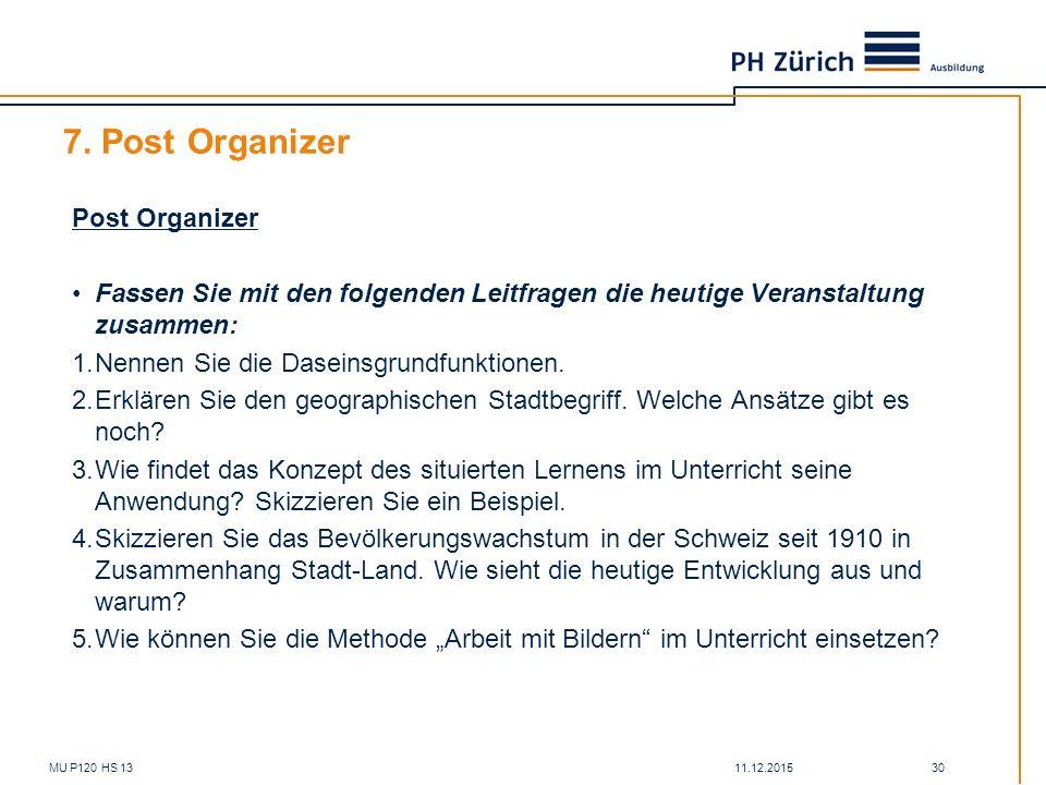 7. Post Organizer Post Organizer