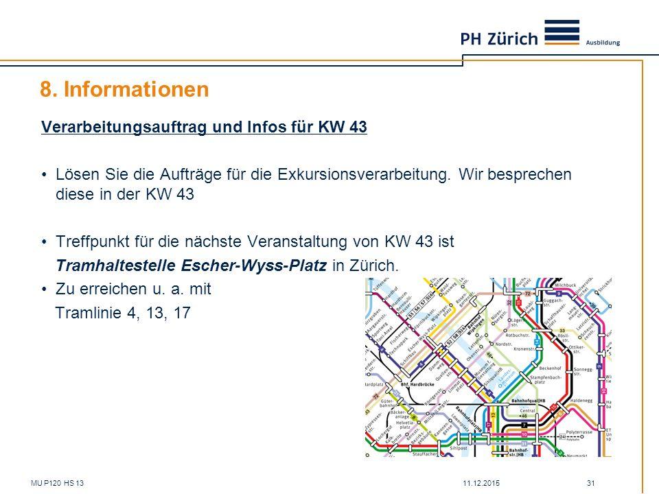 8. Informationen Verarbeitungsauftrag und Infos für KW 43