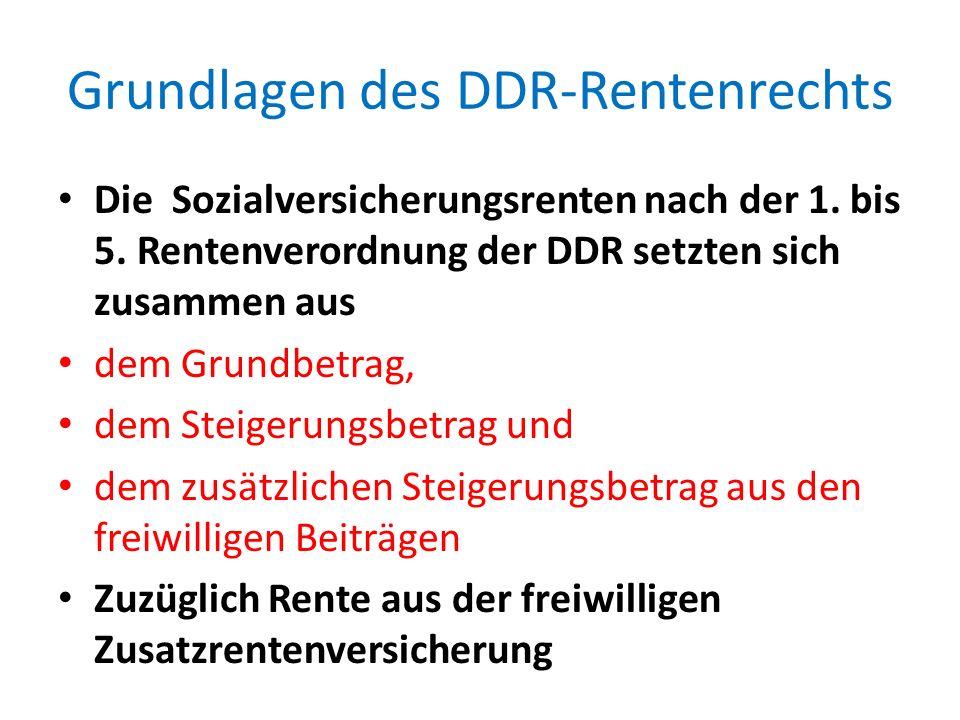 Grundlagen des DDR-Rentenrechts