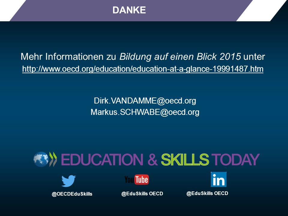 Mehr Informationen zu Bildung auf einen Blick 2015 unter