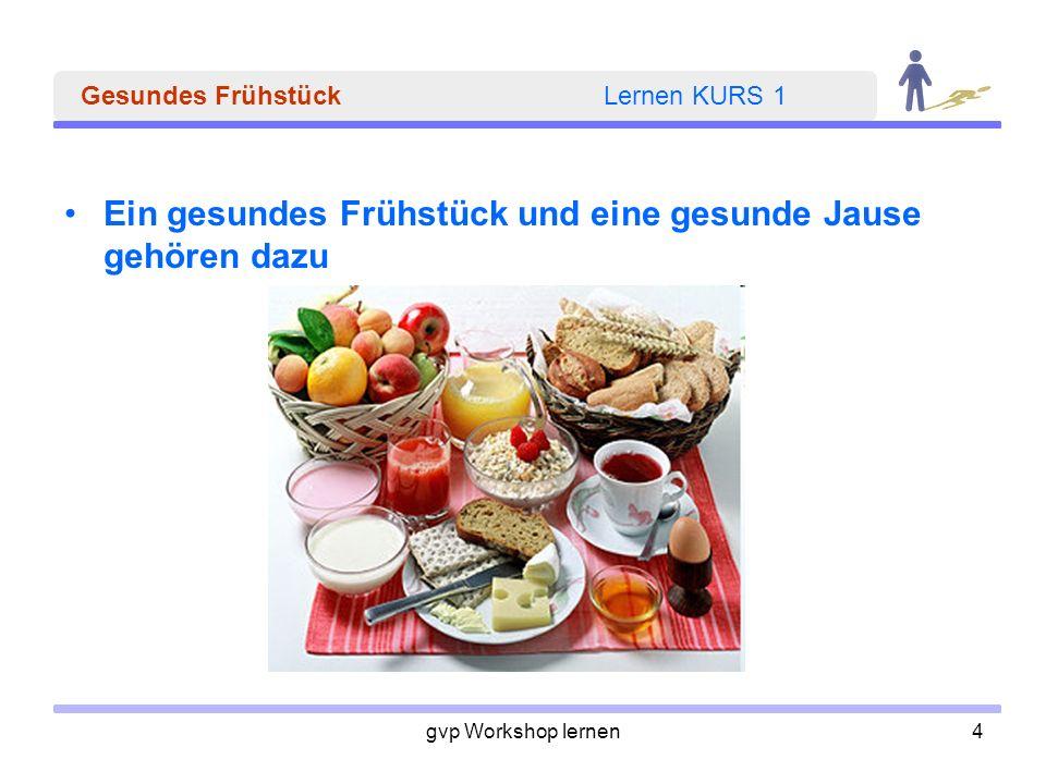 Gesundes Frühstück Lernen KURS 1