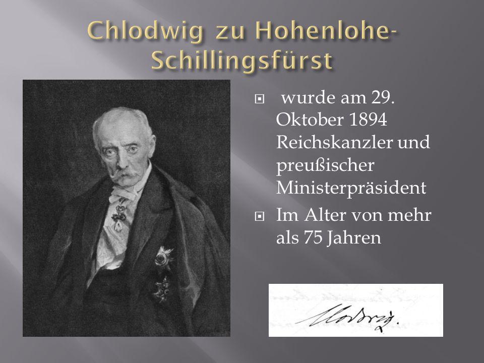 Chlodwig zu Hohenlohe-Schillingsfürst