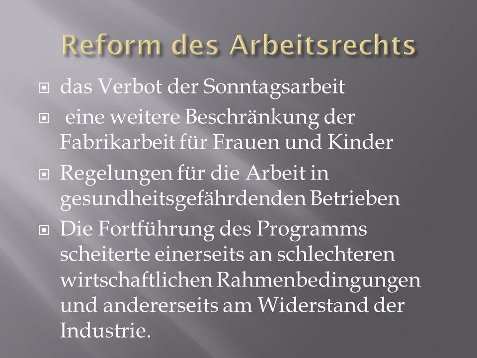 Reform des Arbeitsrechts