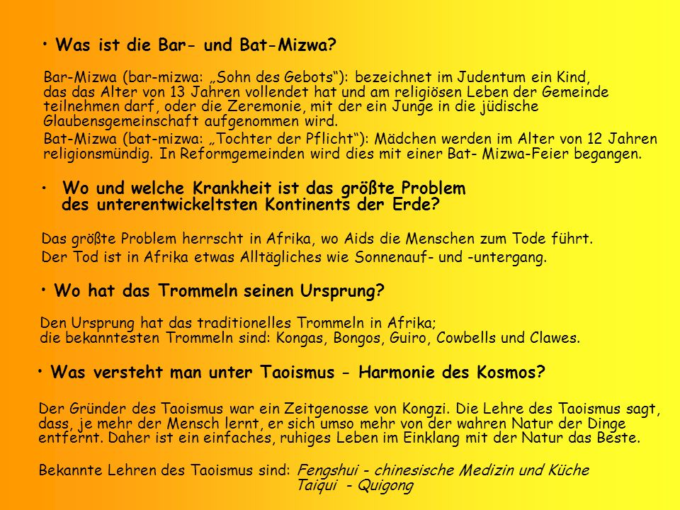 Was ist die Bar- und Bat-Mizwa