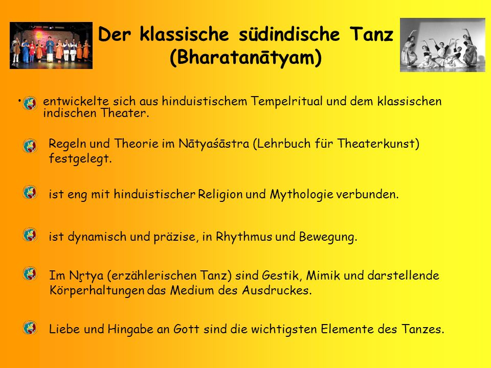 Der klassische südindische Tanz (Bharatanātyam)