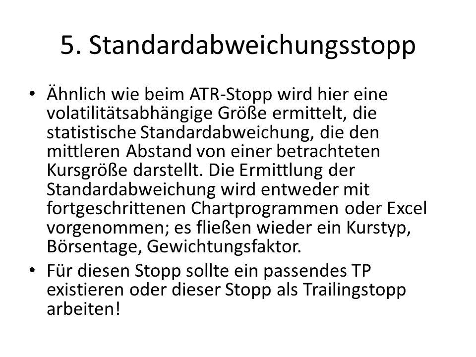5. Standardabweichungsstopp